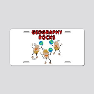 Three Geography Rocks Aluminum License Plate