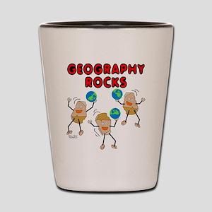 Three Geography Rocks Shot Glass