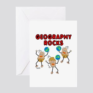 Three Geography Rocks Greeting Card