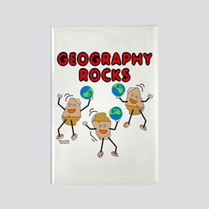 Three Geography Rocks Rectangle Magnet
