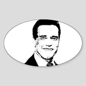 Arnold Schwarzenegger - Oval Sticker