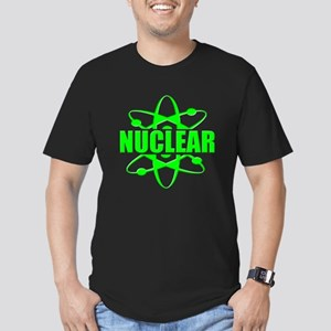 funny nuclear Men's Fitted T-Shirt (dark)