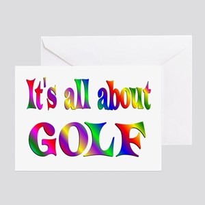 About Golf Greeting Card