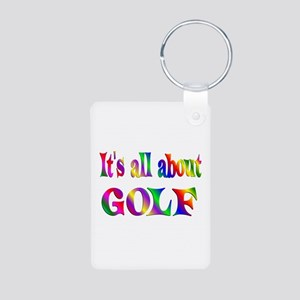 About Golf Aluminum Photo Keychain