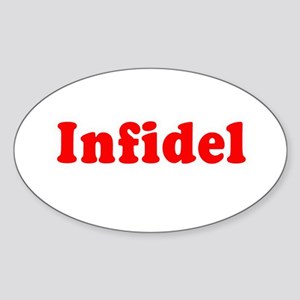 Infidel - Oval Sticker