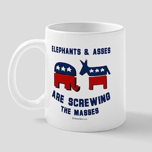 Elephants & Asses are screwing the masses -  Mug