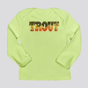 Brook Trout Fly Fishing Catch Long Sleeve Infant T