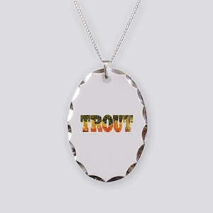 Brook Trout Fly Fishing Catch Necklace Oval Charm