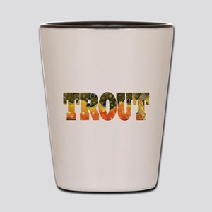 Brook Trout Fly Fishing Catch Shot Glass
