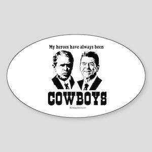 My heroes were always cowboys - Oval Sticker