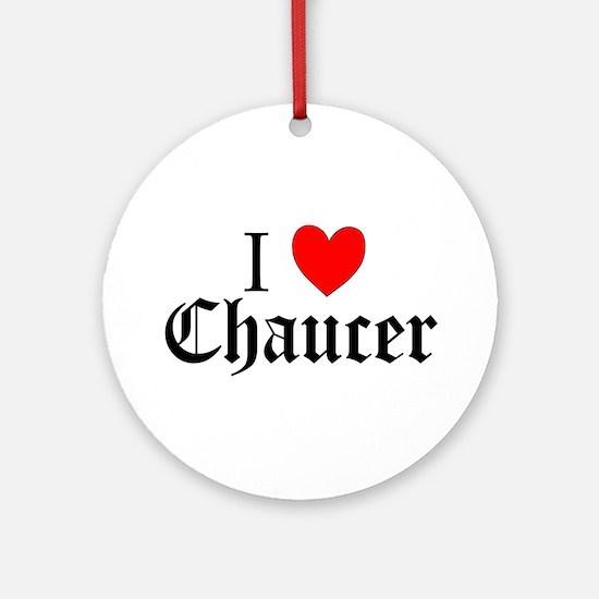 I Love Chaucer Keepsake (Round)