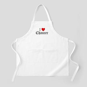 I Love Chaucer BBQ Apron