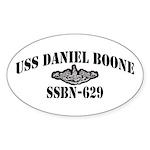 USS DANIEL BOONE Sticker (Oval)