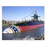 USS DANIEL BOONE Small Poster
