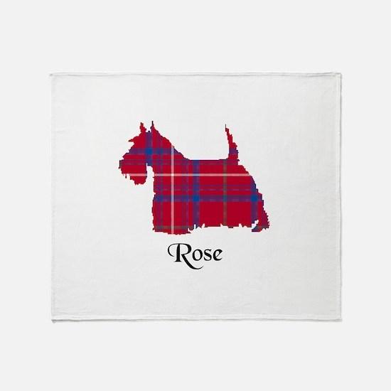 Terrier - Rose Throw Blanket