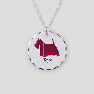 Terrier - Rose Necklace Circle Charm