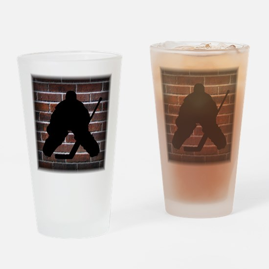 Hockey Goalie Drinking Glass