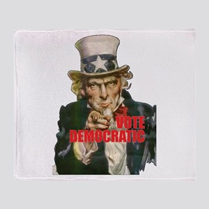 Vote Democratic II - Uncle Sa Throw Blanket