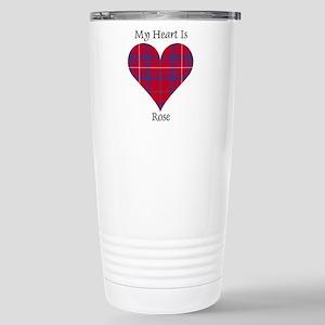 Heart - Rose Stainless Steel Travel Mug