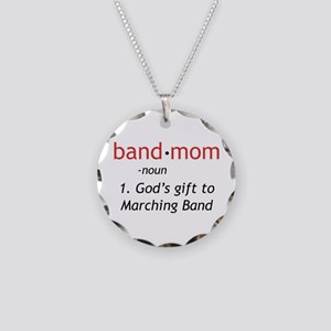 Definition of a Band Mom Necklace Circle Charm