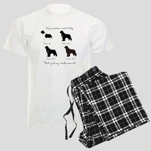 4 Newfoundlands Men's Light Pajamas