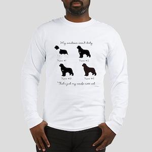 4 Newfoundlands Long Sleeve T-Shirt