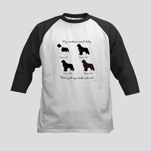 4 Newfoundlands Kids Baseball Jersey