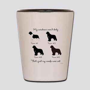 4 Newfoundlands Shot Glass