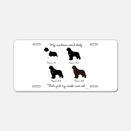 4 Newfoundlands Aluminum License Plate