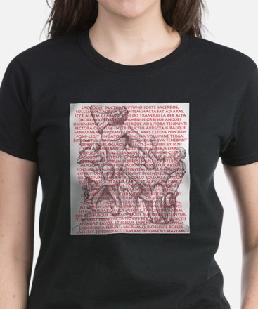 Laocoon Full Text Women's Dark T-Shirt