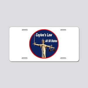 Caylee's Law All 50 States Aluminum License Plate