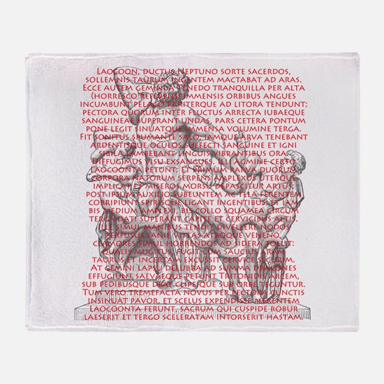 Laocoon Full Text Throw Blanket