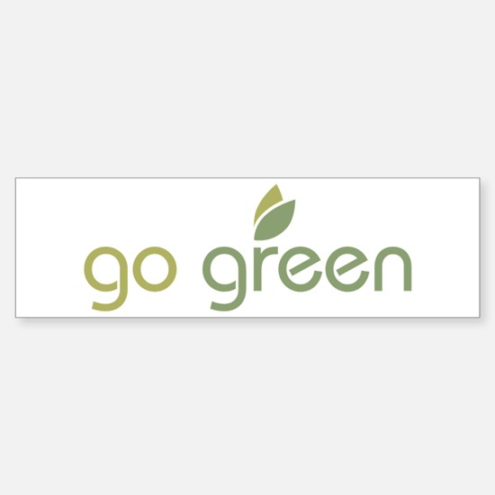 Go Green [text] Sticker (Bumper)