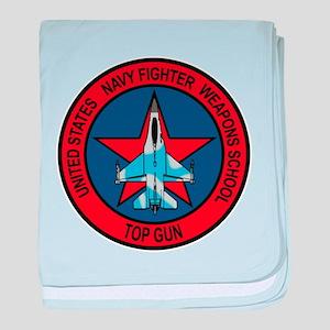 US Navy Fighter Weapons Schoo baby blanket