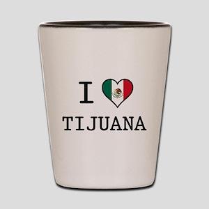 I Love Tijuana Shot Glass