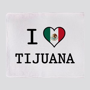 I Love Tijuana Throw Blanket