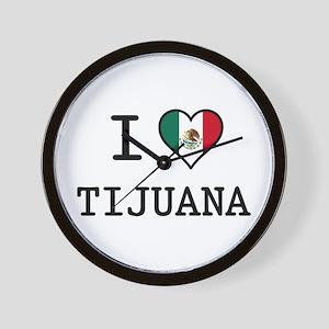 I Love Tijuana Wall Clock