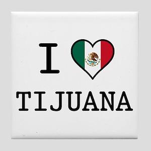 I Love Tijuana Tile Coaster