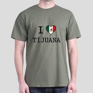 I Love Tijuana Dark T-Shirt
