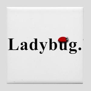 Ladybug. Tile Coaster