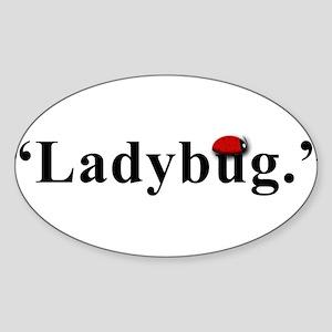 Ladybug. Sticker (Oval)