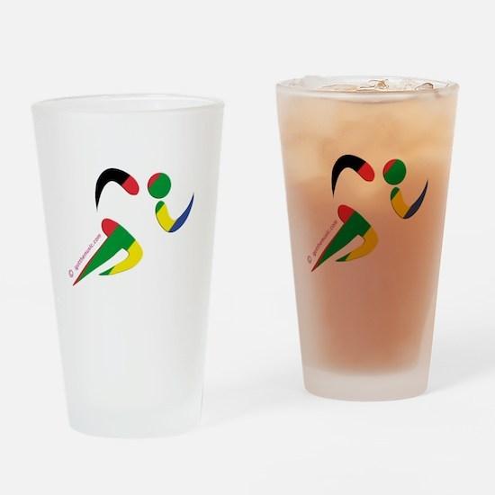 Running Olympic Pint Glass
