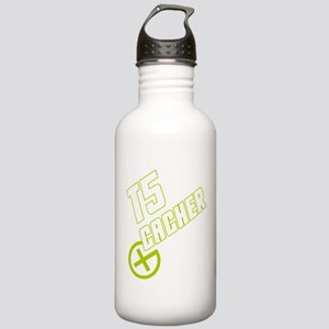 Geocaching T5 Cacher green Stainless Water Bottle