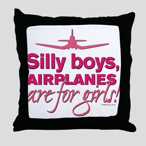 Silly Boys Corsair Throw Pillow