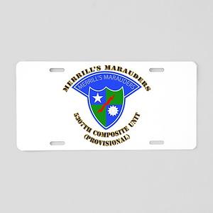 SOF - Merrills Marauders Aluminum License Plate