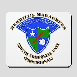 SOF - Merrills Marauders Mousepad