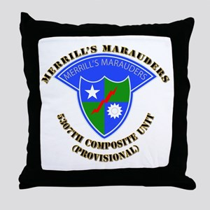 SOF - Merrills Marauders Throw Pillow
