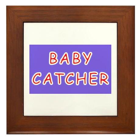 Baby catcher midwife gift Framed Tile