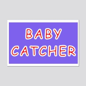 Baby catcher midwife gift Mini Poster Print