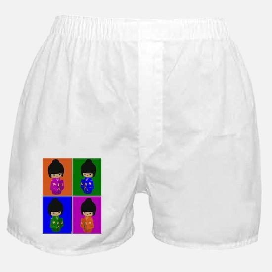 pop art Kawaii Kokeshi Dolls Boxer Shorts